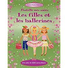 J'habille mes amies - Les filles et les ballerines - Autocollants Usborne