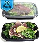 (20er pack) 950ML Meal Prep Container, BPA-frei Frischhaltedose mit Deckel, Bento Box, auslaufsicher, luftdicht, mikrowellengeeignet, einfache Portionskontrolle