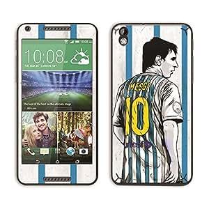 Bluegape HTC Desire 816 Lionel Messi 'The Legend' Football Player Mobile Skin Cover, Multicolor