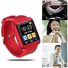 UxradG Sport U8 - Reloj de pulsera inteligente con Bluetooth, azul oscuro