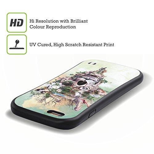 Ufficiale Riza Peker Blu Teschi 5 Case Ibrida per Apple iPhone 7 Plus / 8 Plus Natura 3