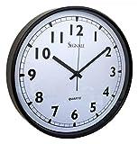Wanduhr Classic 37cm Schwarz Küchenuhr Uhr