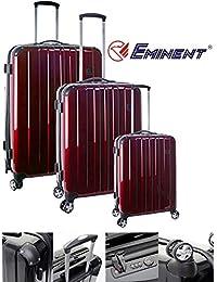 Eminent - Juego de maletas  unisex adulto rojo Ruby