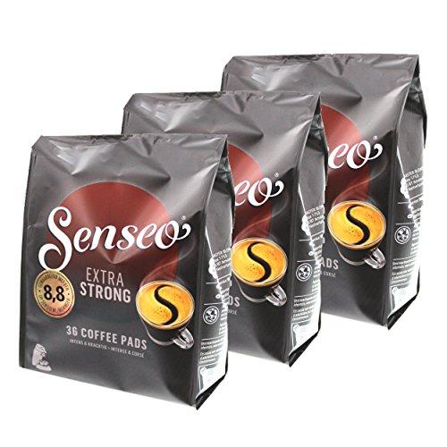 Senseo Kaffeepads Extra Strong / Extra Kräftig, Intensiver und Vollmundiger Geschmack, Kaffee für...