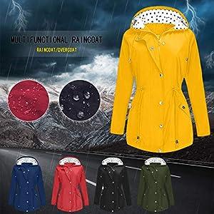 Toasye wasserdichte Outdoor-Sportjacke Mit GroßEn Sonnenschutzgurten FüR Damen Plus Size Outdoor Leichte Regenjacke Kapuze Regenmantel Frauen Mantel