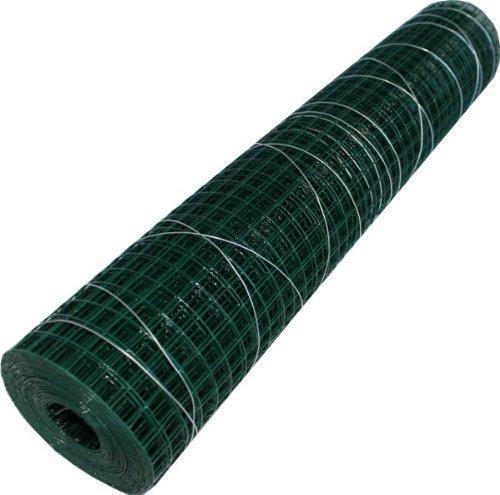 Tresse métallique carrée - longueur du rouleau 5 m vert gainé 19,0mmx500mm