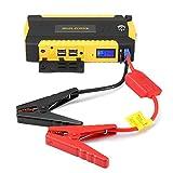 600A 13600mAh Tragbare Auto Starthilfe, AOZBZ Auto Jump Starter Power Bank mit 4 USB-Ausgang, 3 Modi LED-Fackel-Licht, Nothammer und Kompass