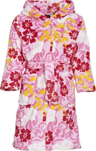 Playshoes Mädchen Bademantel Kuschelweicher Fleece-Bademantel, Morgenmantel Hawaii, Oeko-Tex 100, Gr. 74 (Herstellergröße: 74/80), Mehrfarbig (original)