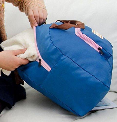 Sentao Faltbare Reisetasche Handtasche Handgepäck Freizeittasche Für Shopping Gym Blau