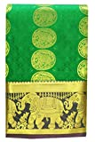 Saravanabava Silks - Kanchipuram Silks Sarees Elephant Border (Art Silk Empossed Butta SRBS01212)