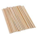 Wenet 30cm Lange Bambus-Dübelstangen Craft Sticks für DIY-Bastelprojekte