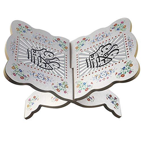 Bücherständer Ramadan Eid Mubarak Kuran Ständer Koran Bücherregal aus Holz Bibelständer Heilige Buch Ständer Eid Mubarak Eid al-Fitr für islamische Muslim