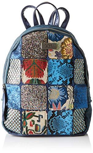 XTI 86121, Bolso mochila para Mujer, Azul (Jeans), 24x29x12 cm (W x H x L)