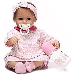 LLX Nicery Reborn Baby Doll Simulación Realista Bebés Muñecas 15 Pulgadas 40 Cm Juguete Realista Regalo De Cumpleaños para Niños