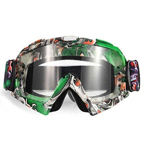 08 Brillen (hifuture Helm Brille Radbrille Motorradbrille High-Definition Objektiv kratzfest Wind Staub Eye Outdoor Ausreit Schutz Sicherheit Gläser #08)