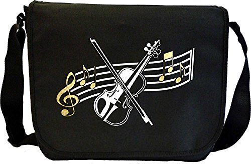Violin Curved Stave - Sheet Music Document Bag Musik Notentasche (Dirigent Outfit)