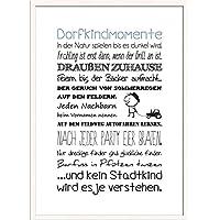 Artissimo, Spruch Bild Gerahmt, 51x71cm, PE6032 ER, Dorfkindmomente.