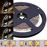 3 Jahre Garantie | ECO hohe Qualität 5m Rolle LED Streifen 12V hochwertig hell 2835 Sanan Chips 8lm/SMD weiß 120 LEDs/m 600 SMD 4800 lm IP20 trennbar ohne Netzteil (neutralweiß, 12V)
