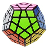 QJ speed megaminx II Puzzle magic Cube Black 12 side puzzle