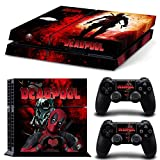 ZoomHit Ps4 Playstation 4 Console Skin Decal Sticker DeadPool Custom + 2 Controller Skins Set