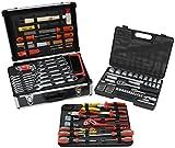 Famex 743-51 Mechaniker Werkzeugkoffer mit Steckschlüsselsatz, 130 insgesamt 170-teilig