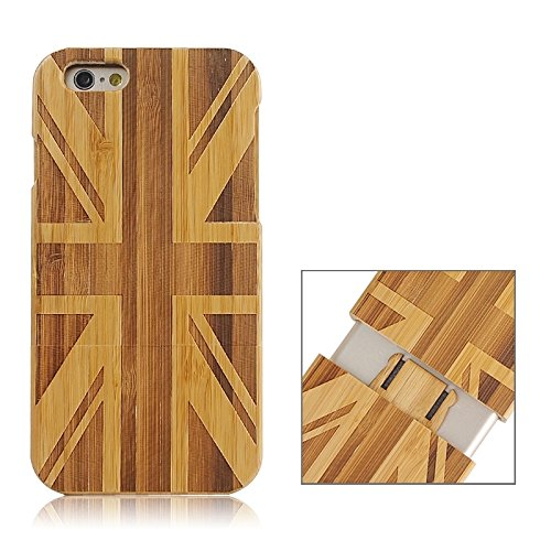 Zhou-covers, per iphone 6 & 6s, caso di legno separabile di modello della bandierina del regno unito (sku : s-ip6g-0336b)