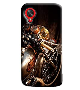 Blue Throat Bike Front Printed Designer Back Cover/Case For LG Google Nexus 5