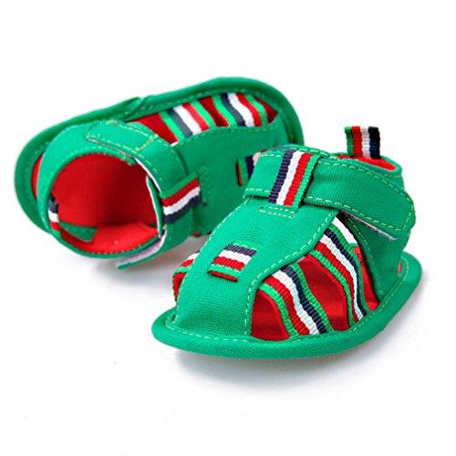 Pour 0-18 mois Bébé,Transer ® Mignon bébé nouveau-né fille garçon sandales anti-dérapant doux unique Toddler Sneaker Vert
