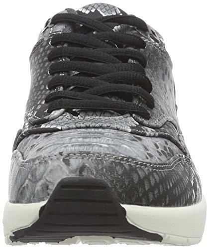 Sofie Schnoor Sneaker Snake Print, Baskets Basses Femme Gris (dark Grey)