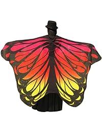 Disfraz de alas de ninfa con diseño de pavo real de Canela, 197 x 125