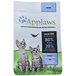 Applaws Complete and Grain Free Natural Dry Cat Food, Kitten Chicken 400 g 13