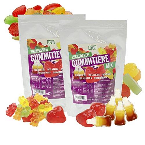LCW Zuckerfreie Gummitiere'Mix' Family Pack, 2er Pack (2 x 500 g)