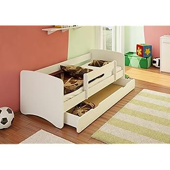 Kinderbett 90x200 weiß rausfallschutz  BEST FOR KIDS Kinderbett 90x160 mit Rausfallschutz + Schublade 44 ...