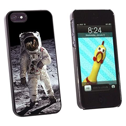 Graphics and More Apollo 11 Moon Landing - Astronaut Space - Snap-On Hard Protective Case for Apple iPhone 5/5s - Non-Retail Packaging - Black