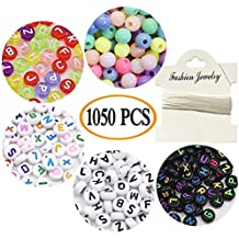 36939833e085 Cuentas redondas con forma de letra A a Z y 250 unidades de cuentas de  colores