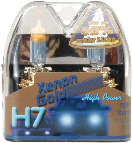 Preisvergleich Produktbild Unitec 77767 Hauptscheinwerferlampen H7 Xenon Gold 12V 55W, 2er-Set