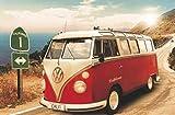 California Camper VW Bus Poster (91,5cm x 61cm) + 1 Traumstrand Poster Insel Bora Bora zusätzlich