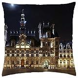 Hotel de Ville Paris–Funda de almohada manta (16'x 16)