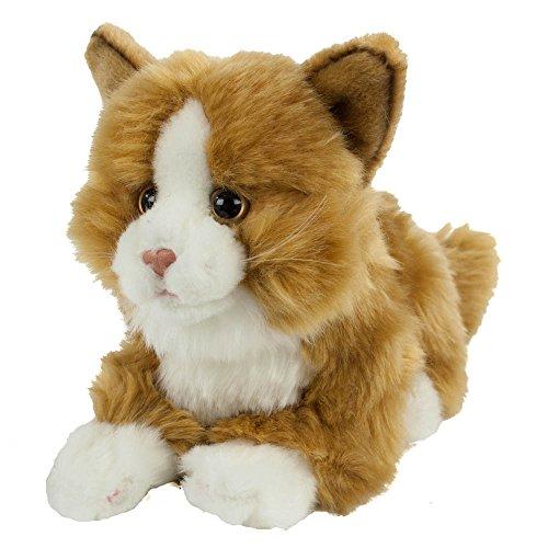 Kuscheltier Katze Benni, 30 cm, liegend, Plüschtier, Schmusekatze, Kuscheltier (Ohren Braune Katze)