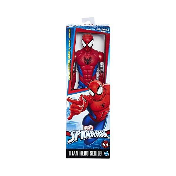 Hasbro Spider-Man Titan Hero Armored Spider-Man 1pieza(s) Multicolor Niño/niña - Figuras de Juguete para niños… 1