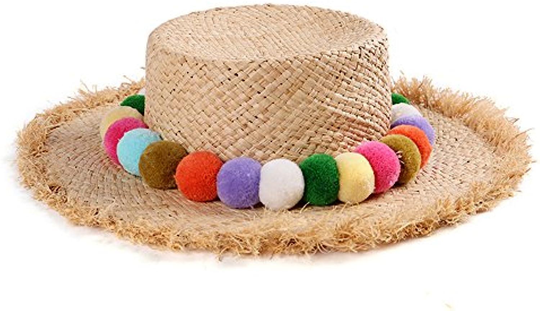Meaeo Cappello Cappello Meaeo di Paglia Cappello da Sole Cappello da  Vacanza Cappello da Sole Cappello da Spiaggia Elegante Minimalista Parent  457d4f 05d46e751a82