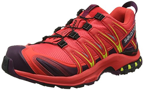 Salomon Damen XA Pro 3D GTX Trailrunning-Schuhe, Synthetik/Textil, Orange (hibiscus/potent purple/sulphur spring), Gr. 40
