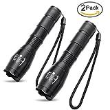 iMing Super Helle LED Taschenlampe Standard Fackel Tactical Handheld Taschenlampen für Camping Outdoor (2er Pack)