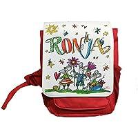Kindergartenrucksack mit Namen, Mäuse, Rosirosinchen, personalisierter Kinderrucksack