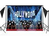 CapiSco Fotohintergrund Fotografie Stoffhintergrund Stoff Hintergrund Fotostudio Hollywood Scheinwerfer 1,8 * 2,7m TG03B
