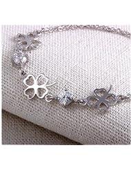 SUYA Pulsera / / 925 plata trébol de cuatro hojas forma/pulseras/mujer/moda/joyería/regalos/fácil de combinar , white