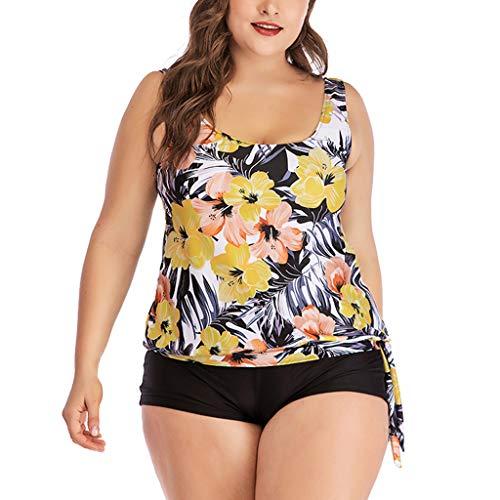 VECDY Bikini Damen Set Push up Sexy Plus Size Print Tankini Badeanzug Badeanzug Beachwear Gepolsterte Badebekleidung Oberteil Unterwäsche BH (Maidenform-wireless Bh)
