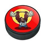 Gym Beast mit Gewichten Gewichtheben Krafttraining Eishockey Puck