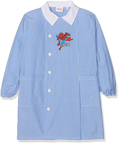 Sun city grembiule spider-man go spidey, top per divisa scolastica bambino, blu (celeste/bianco), 98 (taglia produttore:50)