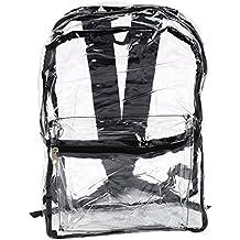 Le donne trasparente Zaini PVC vedere attraverso Beach Bag femmina Cancella Bagpack Sacchetto di scuola Republe
